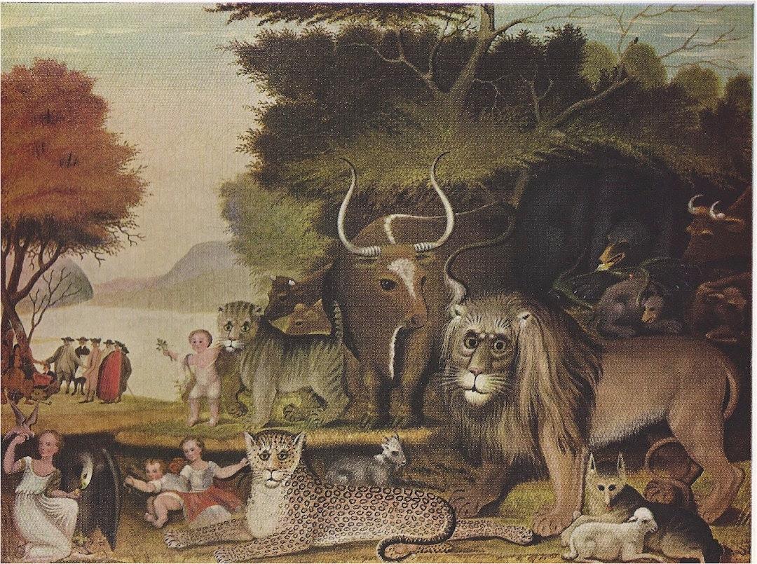 Peaceable Kingdom by  Edward Hicks Art Plate