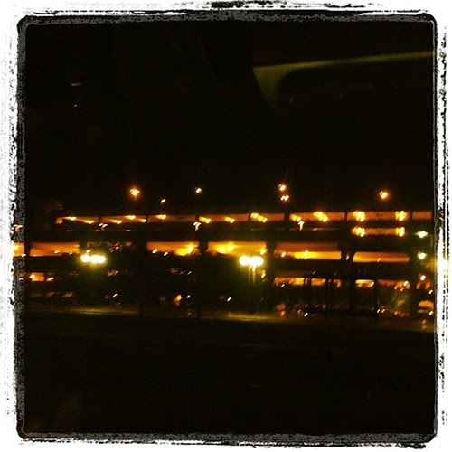 View out my train window. It's dark o'clock in the morning  #fitblognyc