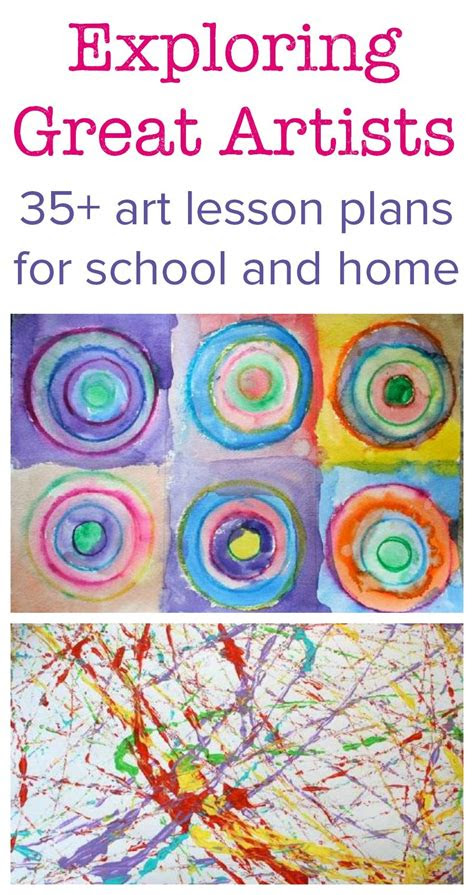 exploring great artists complete art lesson plans kid
