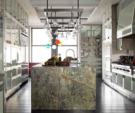 Splashy Countertop Edges Contemporary Kitchen with ...