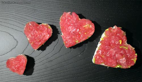 Sushi a forma di cuore