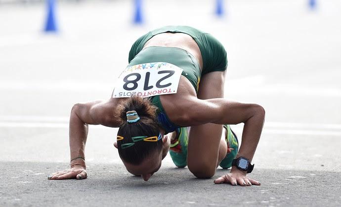 Adriana Aparecida dos Santos maratona feminina Jogos Pan Americanos Toronto (Foto: Harry How/ Getty Images Sport)