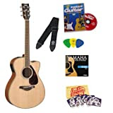 Yamaha FSX720SC Acoustic-Electric Guitar Bundle with Instructional DVD, Picks, Strap, Strings, Pick Card, and...