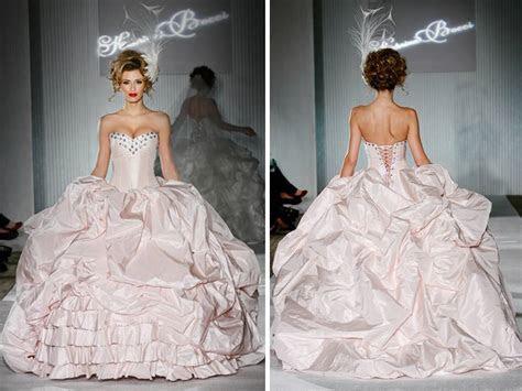 Katerina Bocci 2011 blush pink ballgown wedding dress