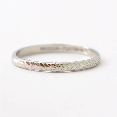 Platinum Art Deco Wedding Band: Antique Wedding Rings