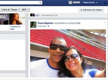 O diretor do Minas, Gustavo Conforte, e a namorada em foto publicada por ela em rede social (Foto: Facebook/Reprodução)