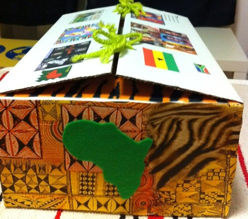 Africa Continent Box (Photo from A Bohemian Education)