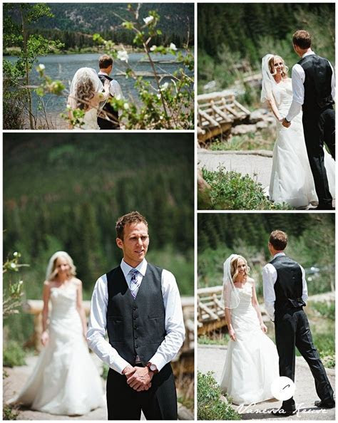 Beautiful bride and groom pictures at this Estes Park