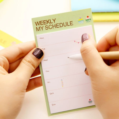 Wish | Cute Daily Planner Post It Bookmark Marker Memo Sticky ...
