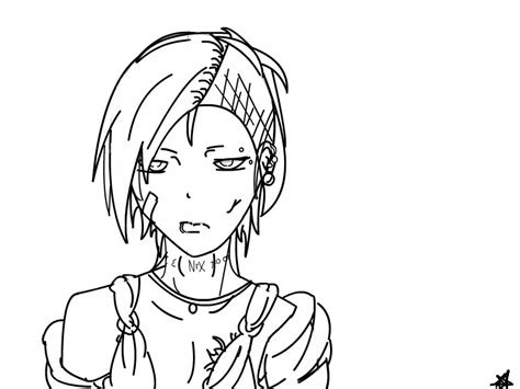 uta  art tokyo ghoul  anime speedpaint drawing