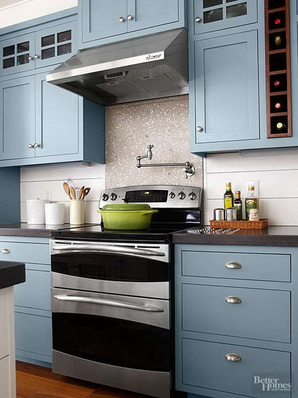 Kitchen Cabinet Paint Color with Gorgeous Blue - For ...