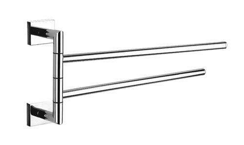 Brass Double Arm Swivel Towel Bar Chrome Bath Towel Holders By