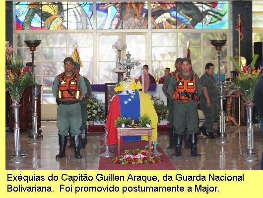 Exéquias do Capitão Guillen Araque.