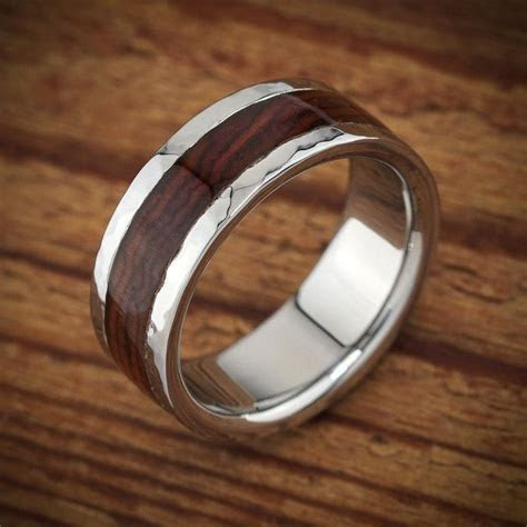 Men's wood wedding ring by Spexton.com, unusual wood and