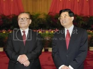 China Jiang Zemin and Hu Jintao