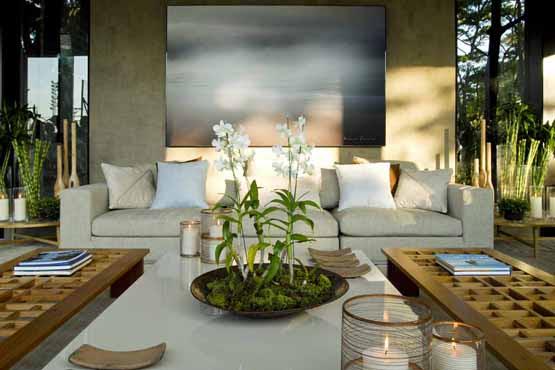 Resultado de imagem para decoração de quadro na sala e plantas