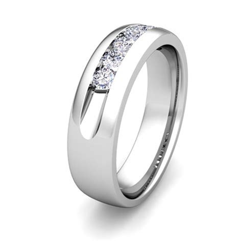 Custom Channel Set Wedding Band Ring for Men with Diamond