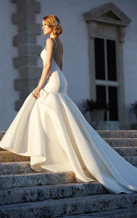 Modern Fit and Flare Wedding Dresses   Martina Liana