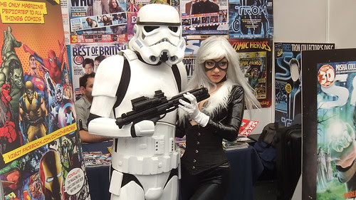 Stormtrooper and Black Cat - Kapow Comic Con - 2011