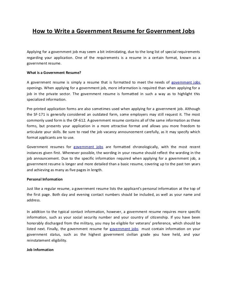 Resume writing tips for government jobs jcq missing coursework aesthetica creative writing