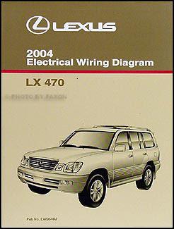 2004 Lexus LX 470 Repair Shop Manual Original 2 Volume Set