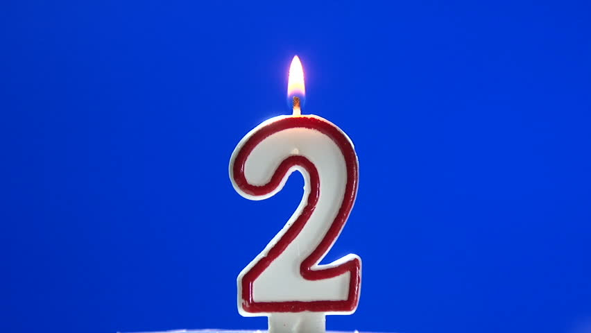 Number 2 - Two Birthday Candle Burning - Blow Out At The ...