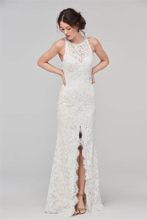 Willowby 59115 Adia High Neck Wedding Dress   MadameBridal.com