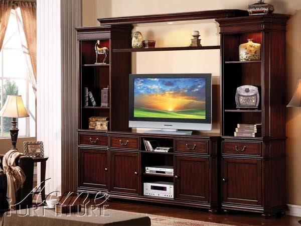 Acme Furniture - Lanice Oak TV Console in Cherry - 91018