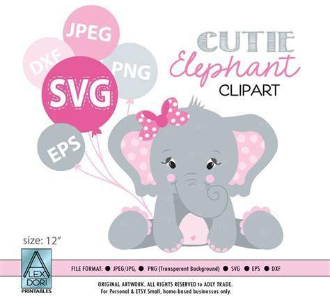 Baby girl elephant clipart ~ Illustrations ~ Creative Market