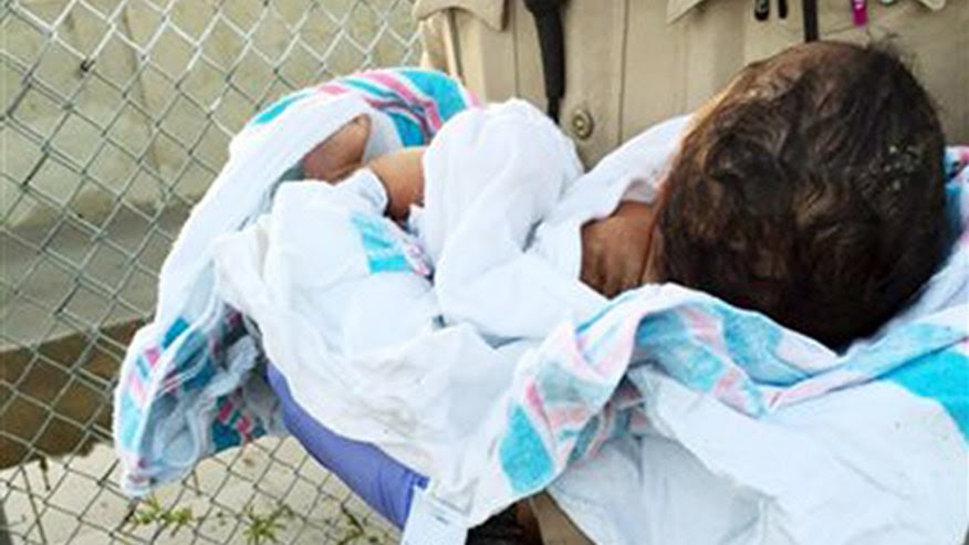 Sheriff's deputies rescue newborn found buried near river