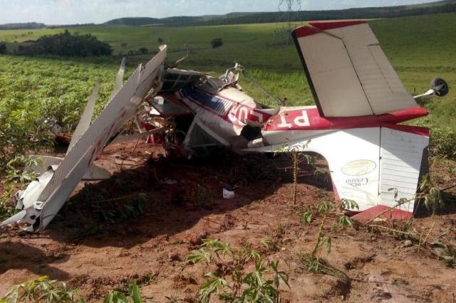 Piloto morre em queda de avião agrícola em Sentinela do Sul Alessandro Vasque/Bombeiros Voluntários de Tapes