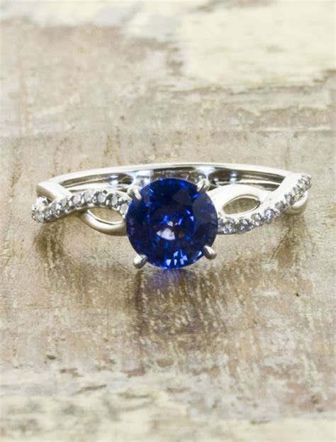 vintage sapphire engagement ring by ken and dana design