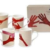 10am is When You Come To Me-  set of 4 Mugs