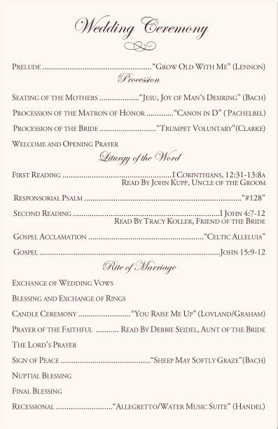Wedding Church Programs on Pinterest   Wedding Weekend