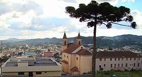 Vista parcial da sede do município