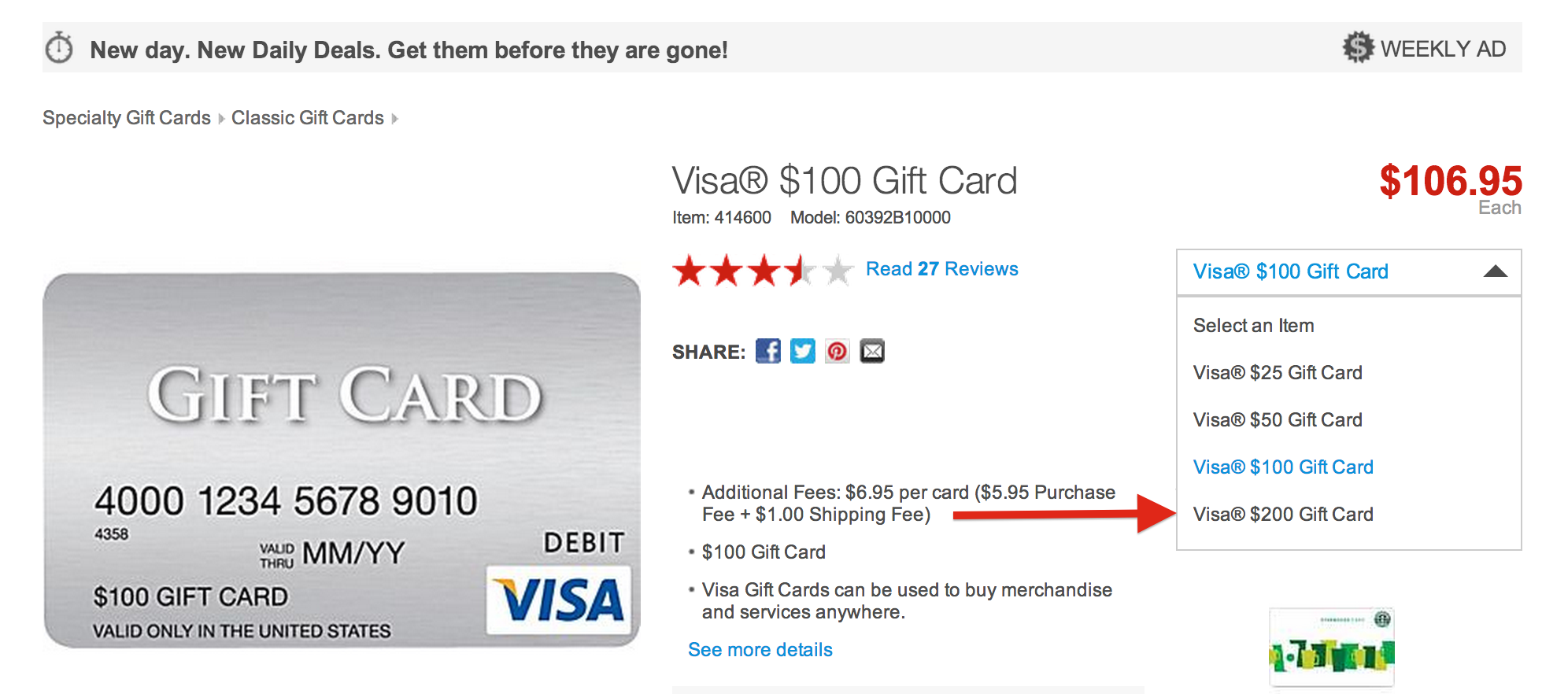 Buy $200 Visa Gift Cards And Earn Big UR Points - Running ...