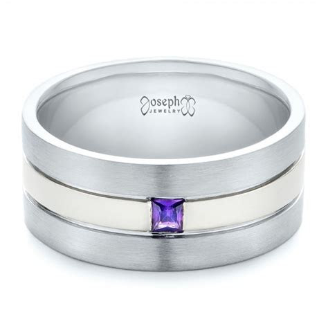 Custom Purple Sapphire Men's Wedding Band #102302