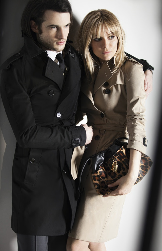 4 Sienna Miller and Tom Sturridge behind the scenes at the Burberry Autumn...
