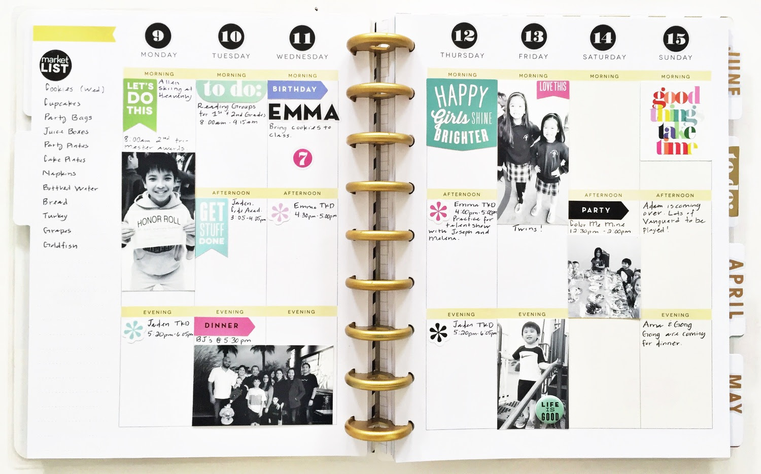 Create 365 The Happy Planner To Dos Photos Lots Of White