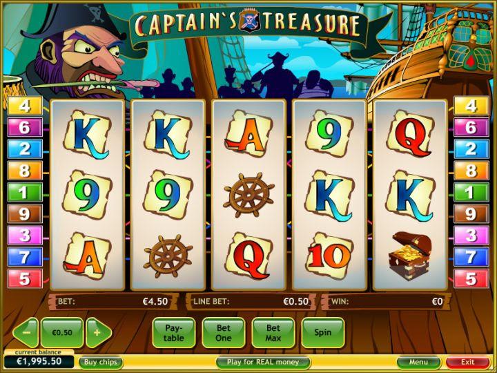 Without bucks captains treasure slot machine online playtech latest