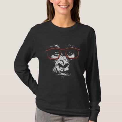 Gorilla Red Glasses T-Shirt