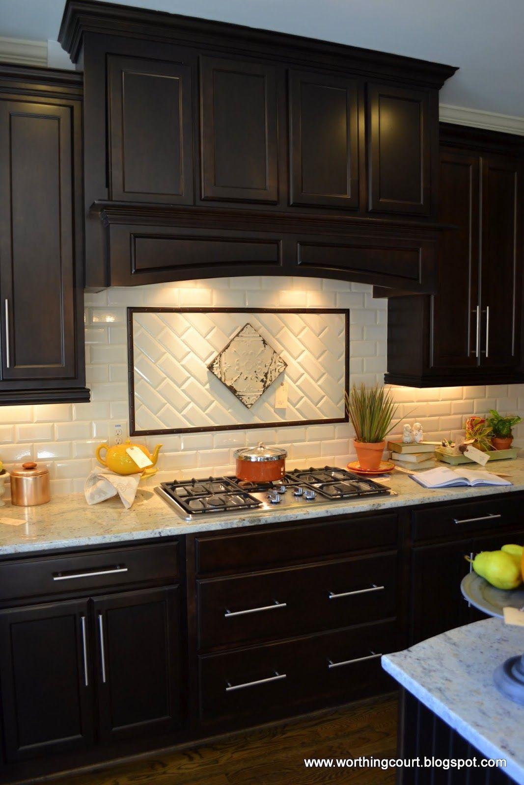 Dark kitchen cabinets backsplash ideas | Hawk Haven