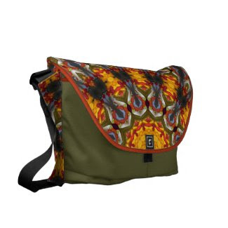 Kaleidoscope salad courier bags