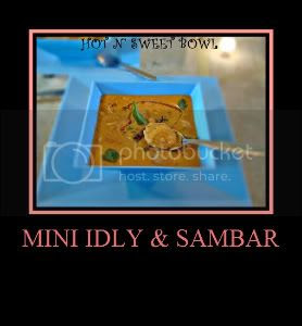 Mini Idly Sambar