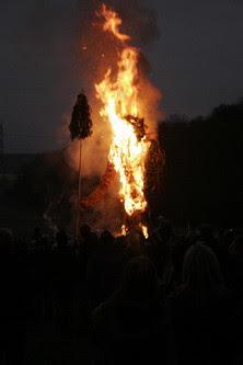 Wicker Man burning