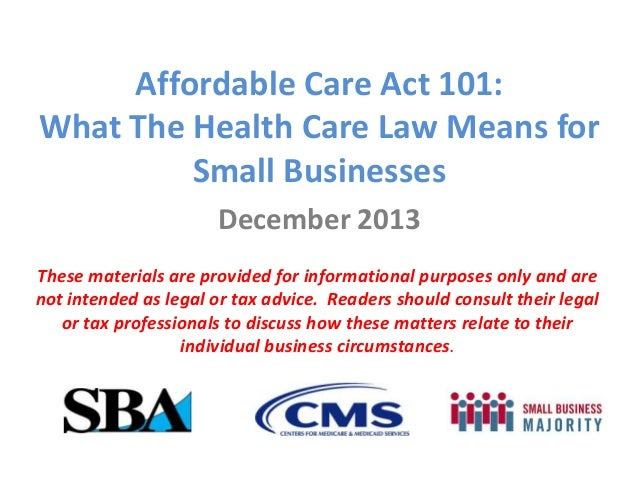 Affordable Care Act 101: What The Health Care Law Means ...