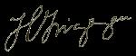 Firma de Hipólito Yrigoyen