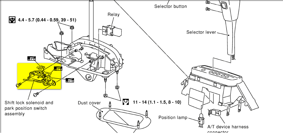 2004 kia spectra shift diagram