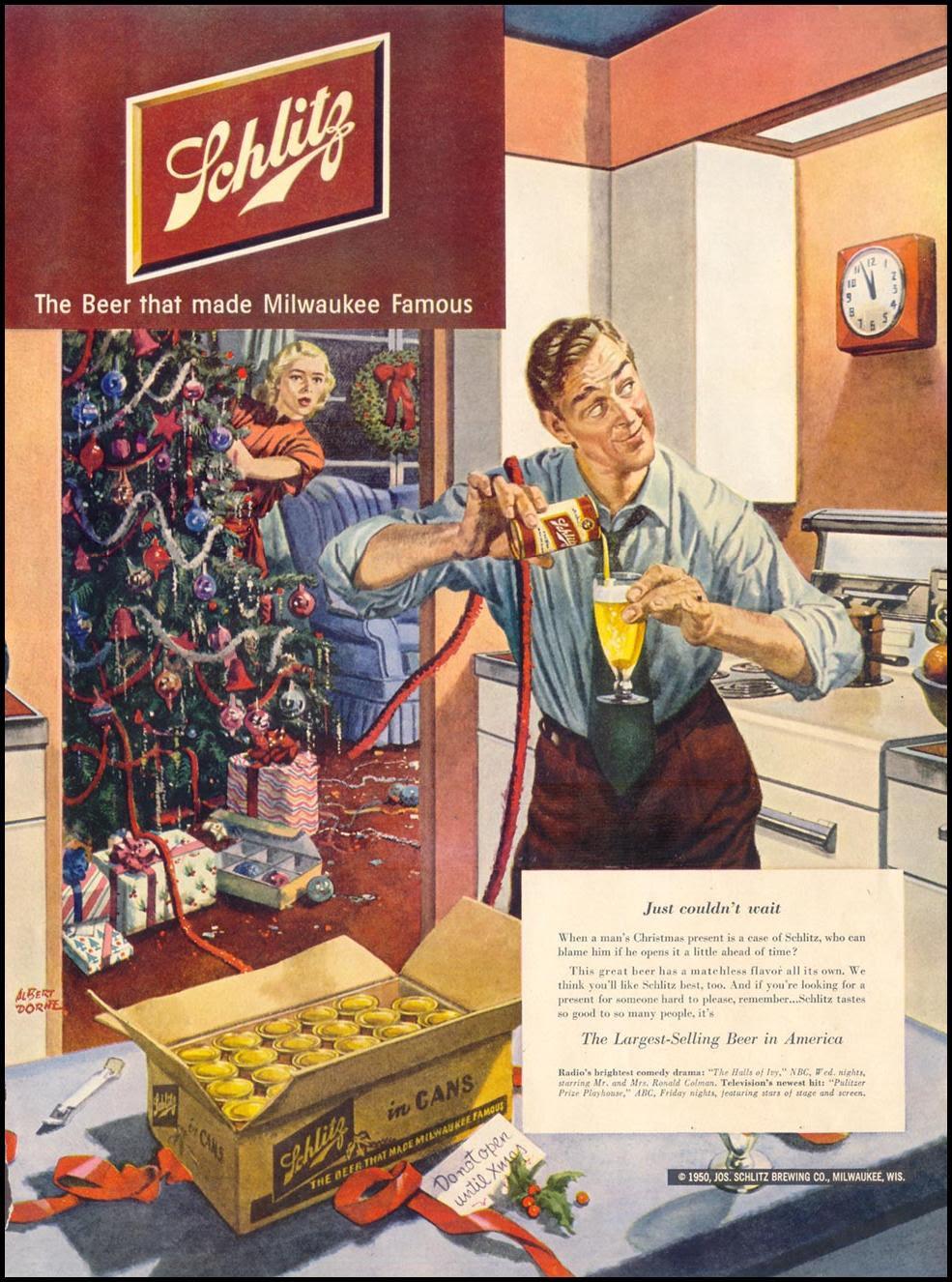 SCHLITZ BEER LIFE 12/25/1950
