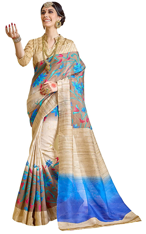 Women's Raw Silk Saree